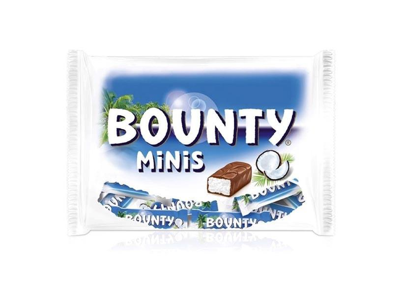 A bag of coconut flavored chocolates