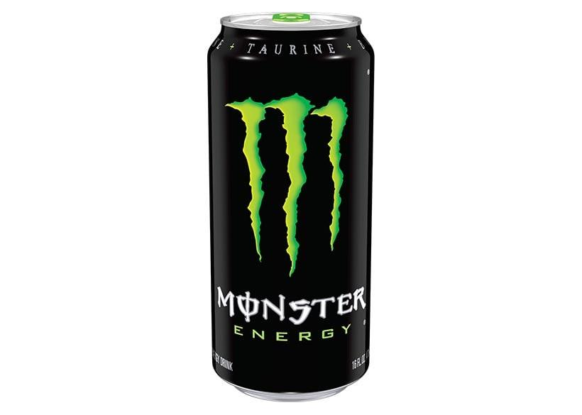 An energy drink packed in a tin offered by Monster