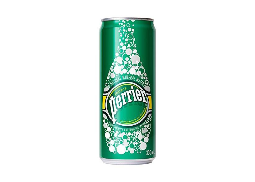 Sparkling water in a tin by Perrier