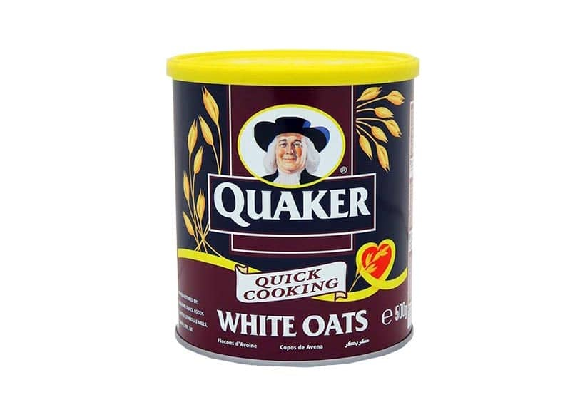 Oats packed in a tin