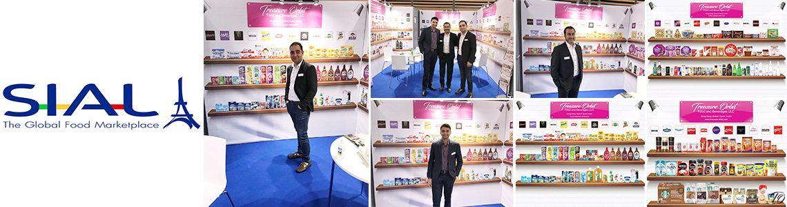 Collage of a trade fair attended by Treasure Orbit Group