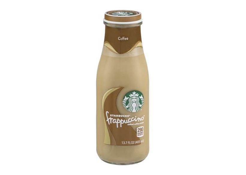 A milk drink packed in a bottle by Starbucks